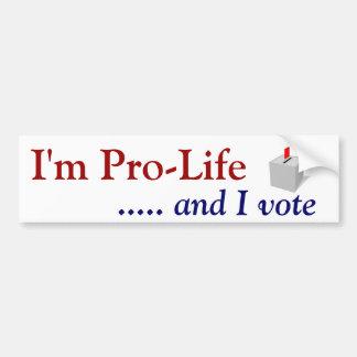 Autocollant De Voiture Vote contre l'avortement et l'euthanasie
