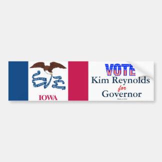 Autocollant De Voiture Vote Kim Reynolds pour l'adhésif pour pare-chocs