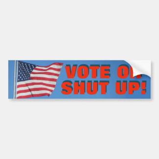 Autocollant De Voiture Vote ou fermé avec le bleu blanc rouge de drapeau