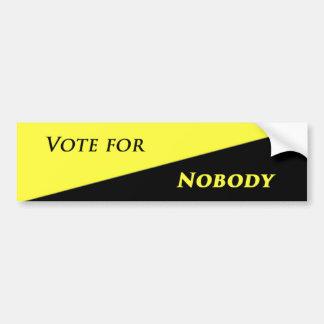 Autocollant De Voiture Vote pour personne 2