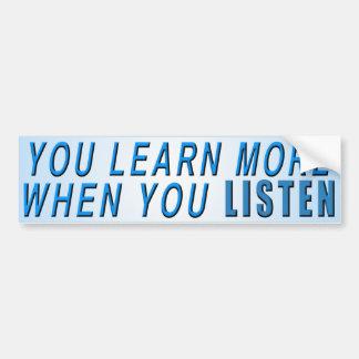 Autocollant De Voiture Vous apprenez plus…
