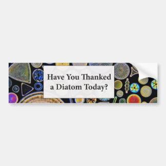 Autocollant De Voiture Vous avez remerciés un arrière - plan de diatomée