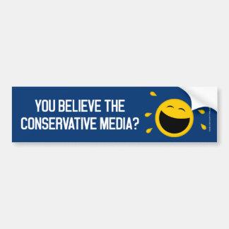 Autocollant De Voiture Vous croyez les médias conservateurs ?