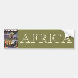 Autocollant De Voiture Voyage vintage, Cape Town, une ville en Afrique du