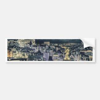 Autocollant De Voiture Vue aérienne de scène de nuit de paysage urbain de