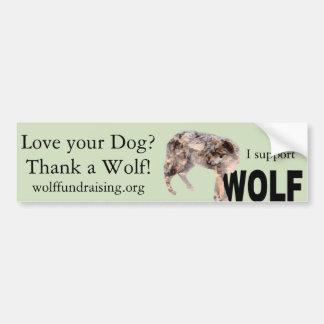 """Autocollant De Voiture W.O.L.F. """"Aimez votre chien ?"""" Adhésif pour"""