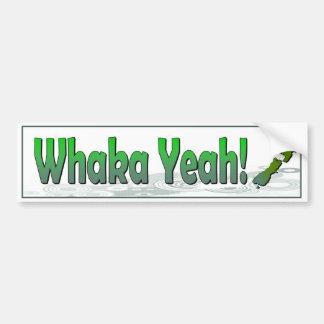 Autocollant De Voiture Whaka ouais. dire drôle de kiwi (Nouvelle Zélande)