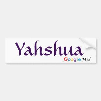 Autocollant De Voiture Yahshua - Google j'adhésif pour pare-chocs