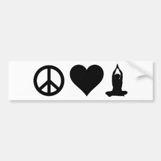 Autocollant De Voiture Yoga d'amour de paix