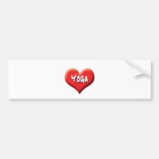 Autocollant De Voiture Yoga pour chacun - coeurs rouges