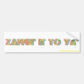Autocollant De Voiture Zappin il à l'adhésif pour pare-chocs de Ya