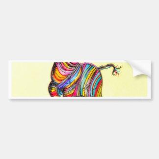 Autocollant De Voiture Zèbre multicolore