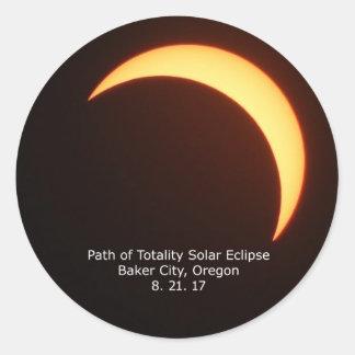 Autocollant d'éclipse solaire