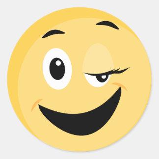 Autocollant d'école avec le visage souriant Emoji