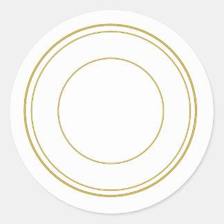 Autocollant décoratif rond de cercle d'or