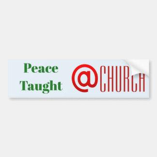@ autocollant d'église enseigné par paix {modèle}