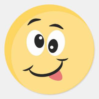 Autocollant d'Emoji avec le visage heureux