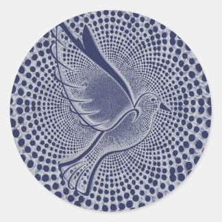 Autocollant d'enveloppe de colombe de paix