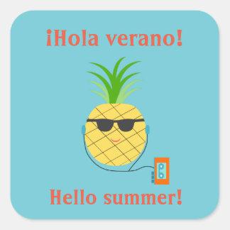 """Autocollant d'été d'Espagnol """"bonjour"""" avec"""