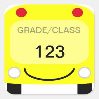 Autocollant d'étiquette d'autobus scolaire