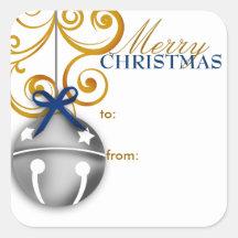 Autocollant d'étiquette de cadeau de Noël de