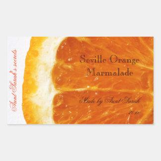 Autocollant d'étiquette de confiture d'oranges