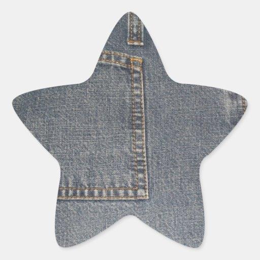 Autocollant d'étoile d'arrière - plan de tissu de
