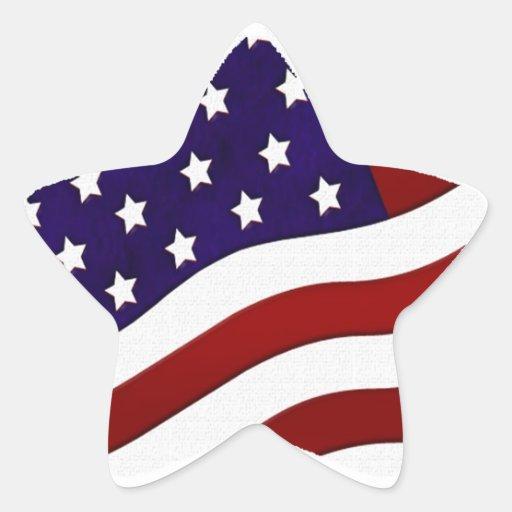 Autocollant d'étoile de drapeau américain