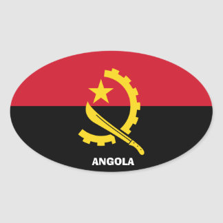 Autocollant d'Euro-StyleOval de l'Angola