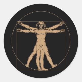 Autocollant d'homme de da Vinci Vitruvian