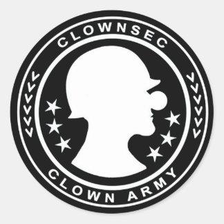 Autocollant d'insigne d'armée de clown