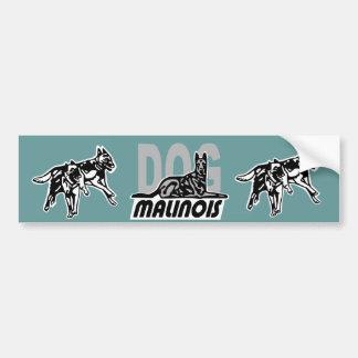 autocollant dog malinois