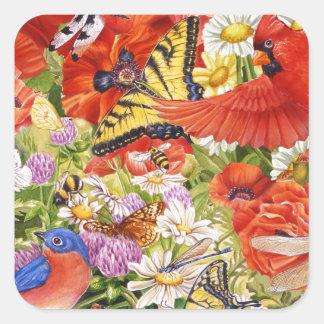 Autocollant d'oiseaux, de papillons et d'abeilles