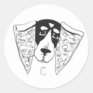 Autocollant d'oreilles de pizza