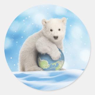 Autocollant d'ours blanc