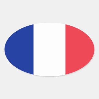 Autocollant d'ovale de drapeau de la France