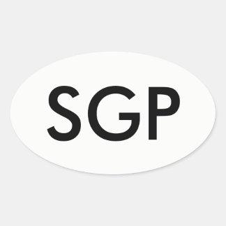 Autocollant d'ovale de SGP