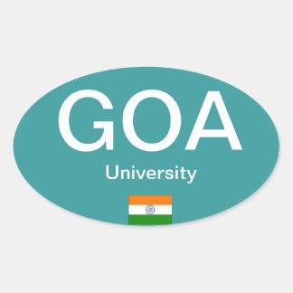 Autocollant d'ovale d'Euro-style de Goa