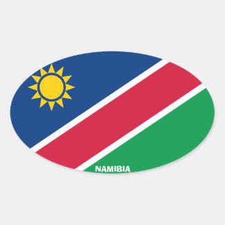Autocollant d'ovale d'Euro-Style de la Namibie