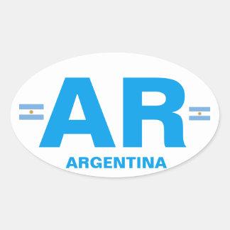 Autocollant d'ovale d'Euro-style de l'Argentine AR
