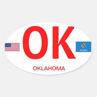 Autocollant d'ovale d'Euro-style d'Oklahoma*