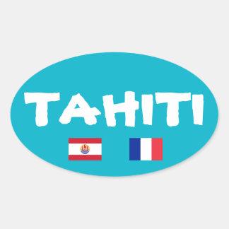 Autocollant d'ovale d'Euro-Style du Tahiti