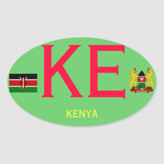 Autocollant d'ovale d'Européen-style de KENYA*-
