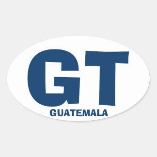 Autocollant d'ovale du Guatemala GT