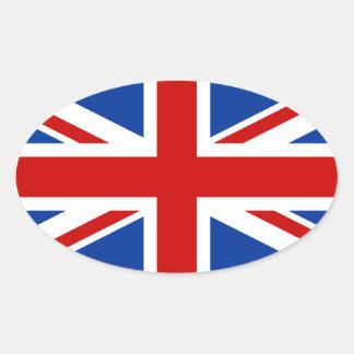 Autocollant d'ovale d'Union Jack