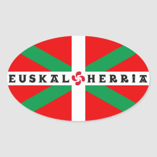 "Autocollant Drapeau Basque ""ikkurina"""