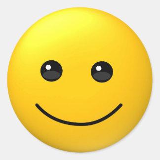 Autocollant drôle de sourire heureux de visage