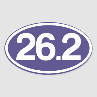 Autocollant du bleu 26,2 (plein autocollant de