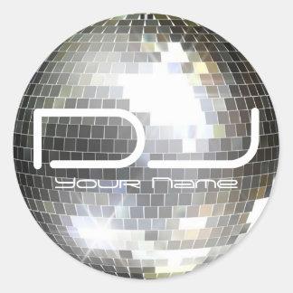 Autocollant du DJ de boule de disco