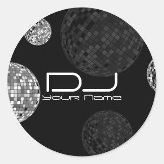 Autocollant du DJ de boules de disco